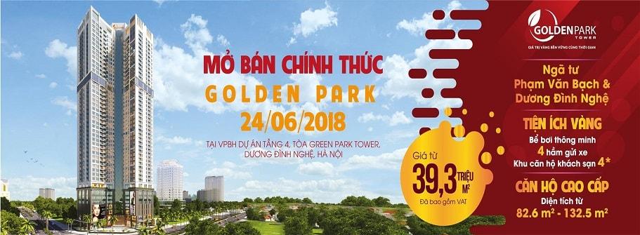 quảng cáo golden park tower